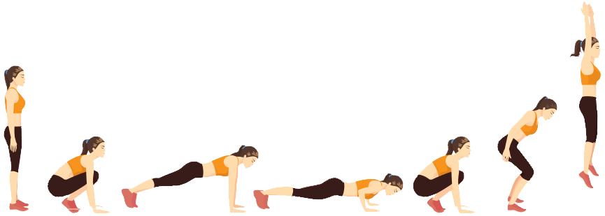 burpees démonstration exercice