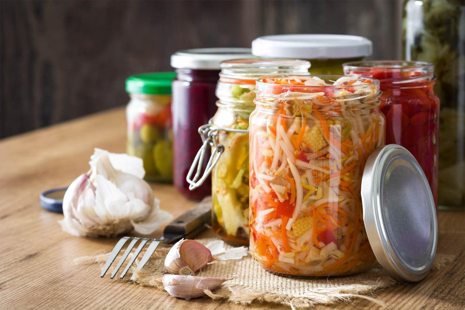 légumes fermentés bocaux