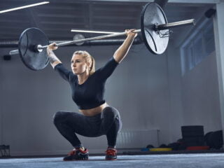 overhead squat complet barre