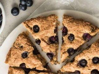 recette scones aux myrtilles sans gluten