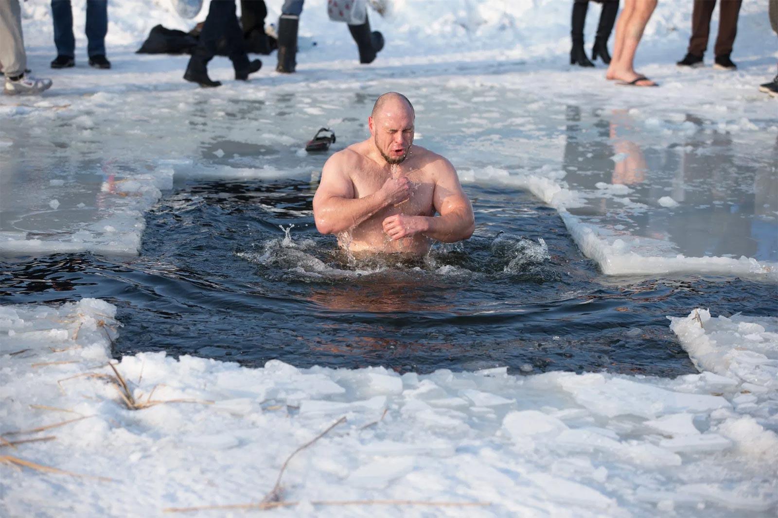 bain eau glacée