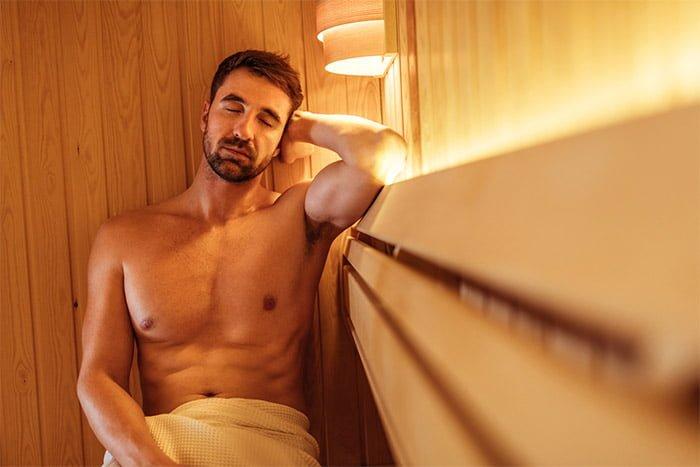 homme sauna