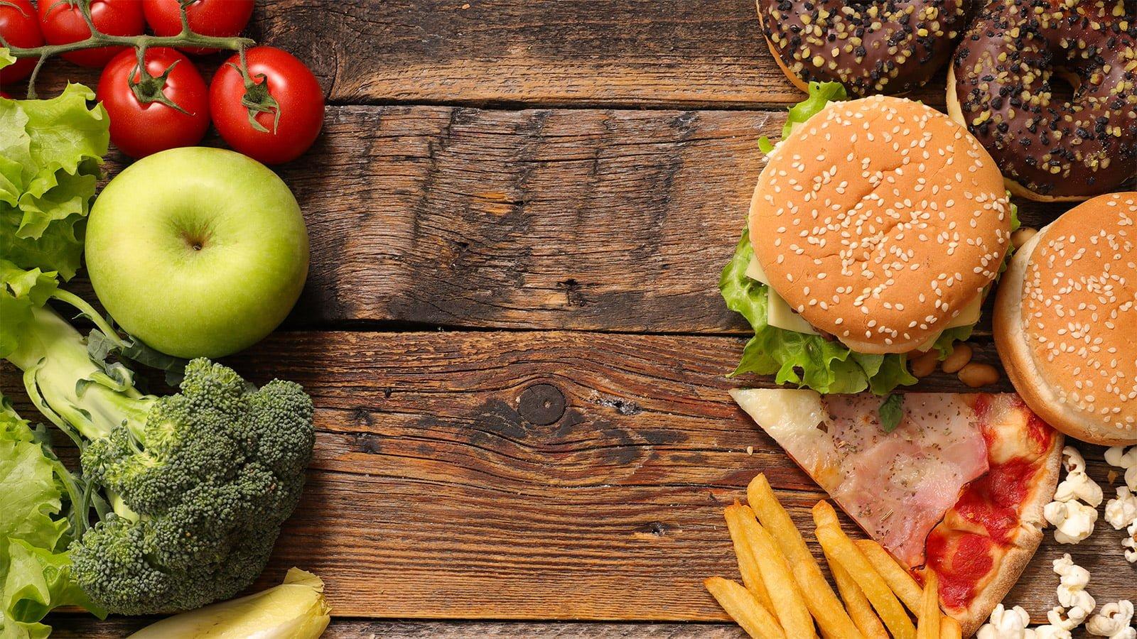 calorie aliments sains malbouffe