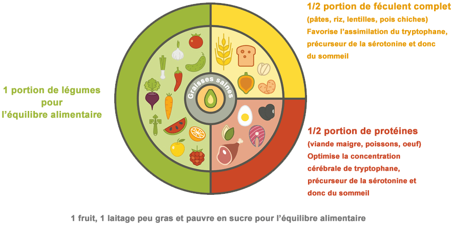 schéma assiette bon équilibre alimentaire