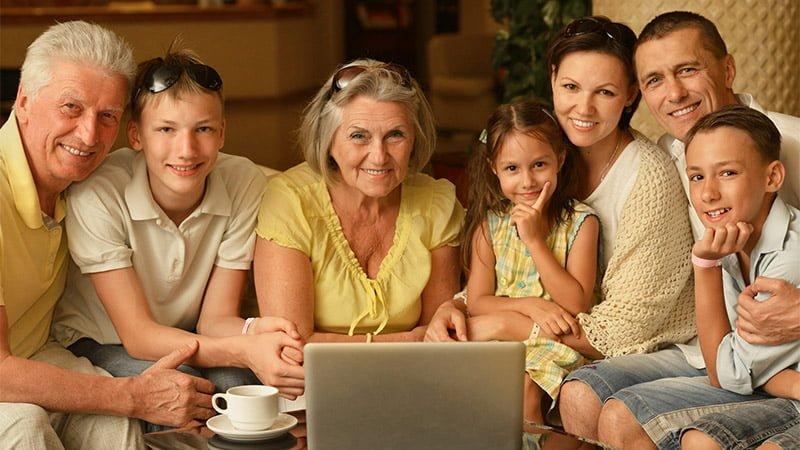 photo de famille 3 generations