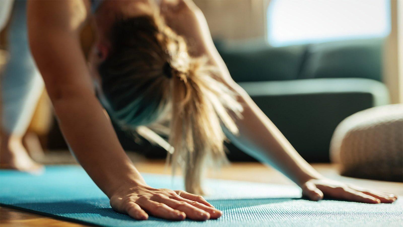 yoga pose stretching