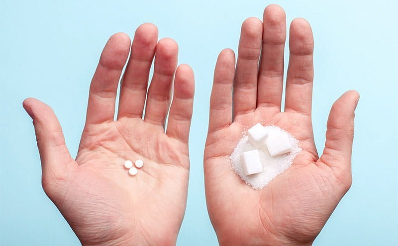 comparaison aspartame sucre blanc