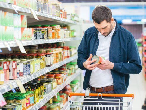 label alimentaire supermarché