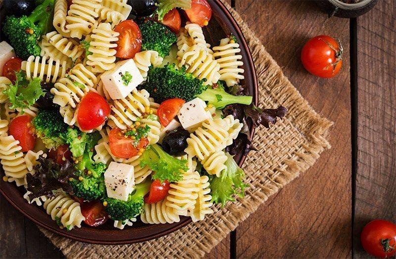 salade de pâtes consommation légumes