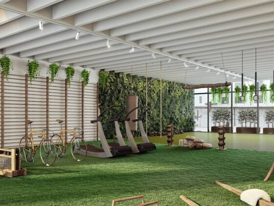 salle sport écologique