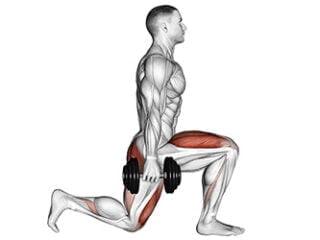 fentes avant quadriceps